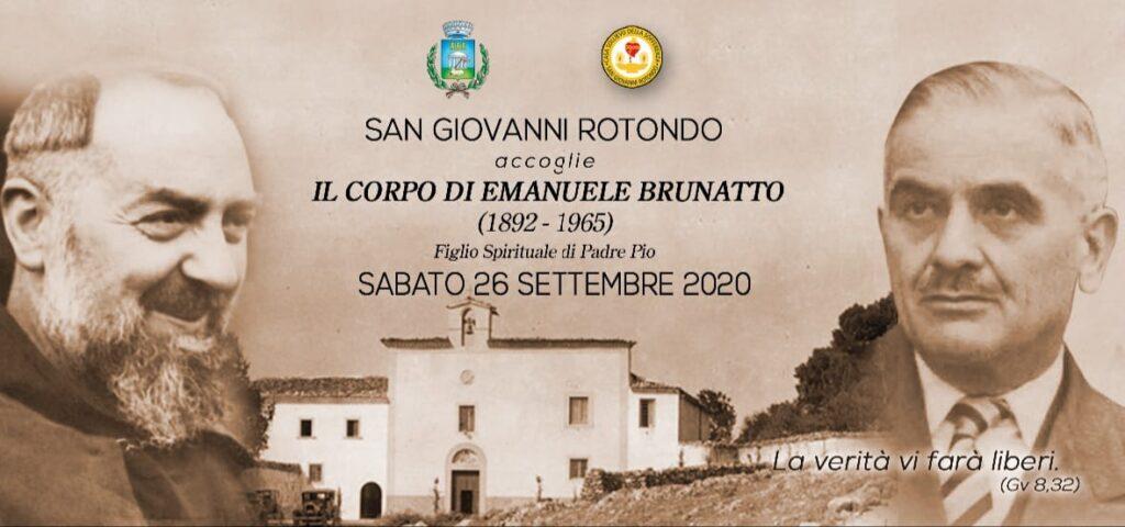 Padre Pio: il corpo del figlio spirituale Brunatto torna a San Giovanni Rotondo – [Comunicato Ufficiale]